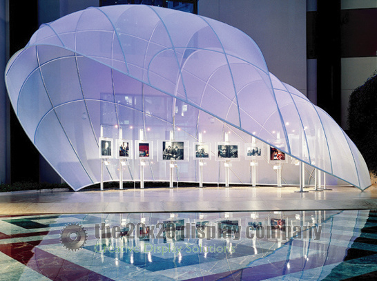 Stretch Fabric Exhibition Stands : Stretched fabric structures the display company